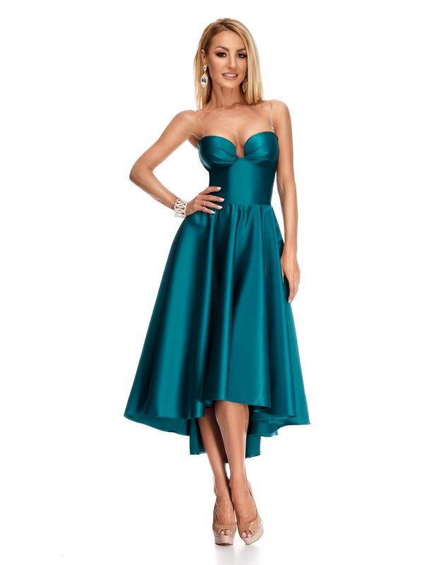 55546f602a06 Γυναικεία   Ρούχα   Φορέματα   Καθημερινά   9213 RO Βραδινό ασυμμετρο φόρεμα  - Πράσινο - GoldenShopping.gr