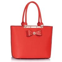 1134 LS Μοντέρνα τσάντα με διακοσμητικό φιόγκο