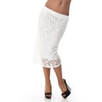 6890 LX Μίντι φούστα με δαντέλα