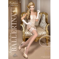 2208 BA Ballerina stay-ups with ramage and lace top with silicone