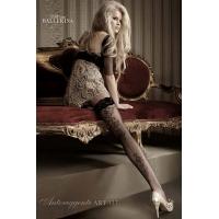 2234 BA Μαύρες κάλτσες με δαντέλα και σιλικόνη