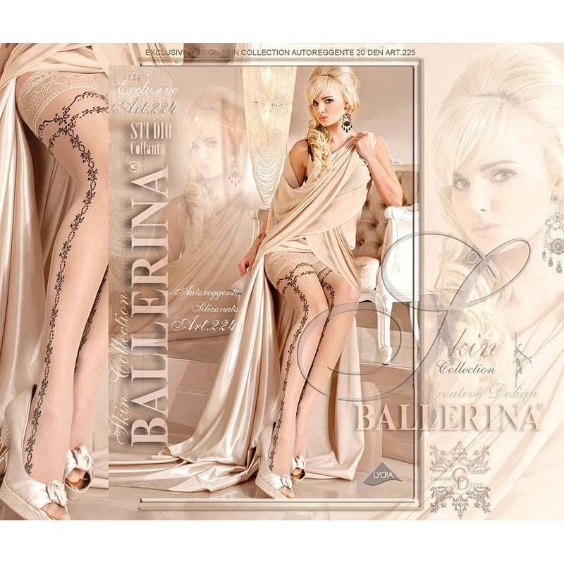 2239 BA Ballerina stay-ups lace top with silicone