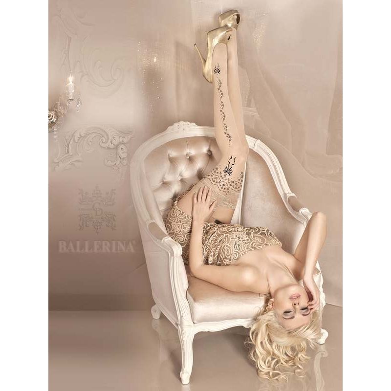2240 BA Ballerina stay-ups with lace top and silicone