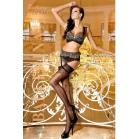 2244 BA Ballerina stay-ups with lace top with silicone