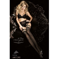 2254 BA Ballerina black stockings with stretch top