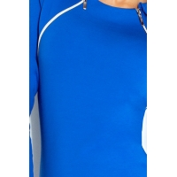 70057 NU Dress with two zippers - Blue