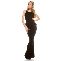 41551 FS Evening gown backless-Black