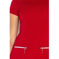 70071 NU Dress with two zippers - red