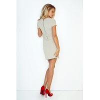 70072 NU Dress with two zippers - BEIGE