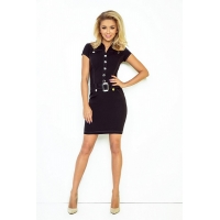 70077 NU Dress with buttons - black