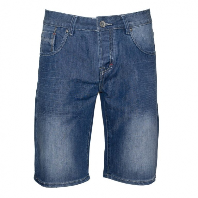 71305-11 Men's jean short Denim - blue