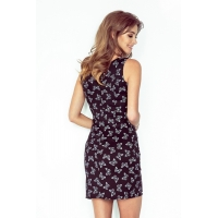 70087 NU Asymmetrical dress - Black + butterflies