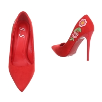 0668 LD Women's High Heels - red