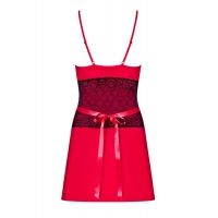 2365 OB Feminine chemise with lace and thong - red