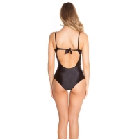 41815 FS Sexy swimsuit with mesh - Black