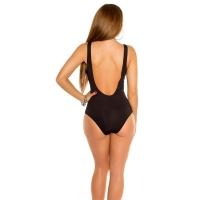 41857 FS Sexy swimsuit with lacing - Black
