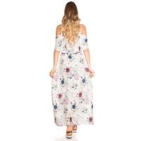 Δροσερό μάξι φόρεμα με λουλούδια