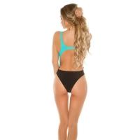 41898 FS Sexy Bi-Color Monokini padded - Turquoise/Black