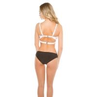 41904 FS Sexy PushUp Uni Color Monokini - Black