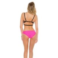 41905 FS Sexy PushUp Uni Color Monokini - Fuchsia