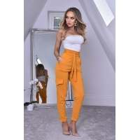 52601 CW Crepe Pocket Trousers - Mustard