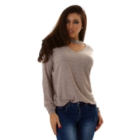 61198 LX Pullover - Light Brown
