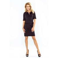70117 NU Mini dress with a collar - black