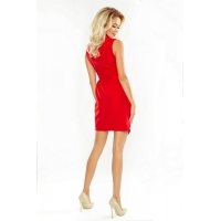 70132 NU Dress with neckline - Red