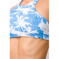 8609 AX Bikini with refined cut top-Blue