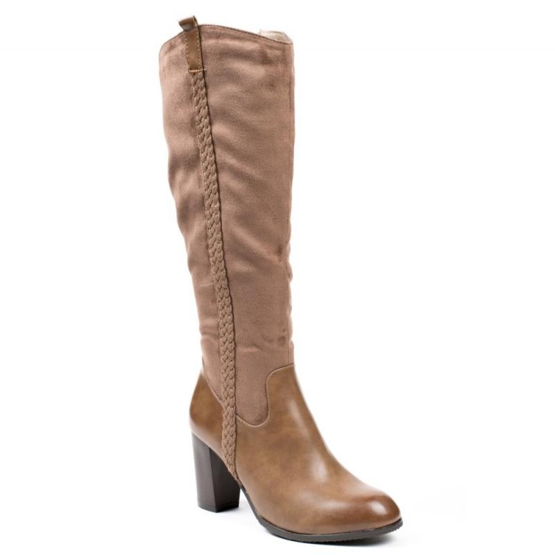 0606 ID Ψηλοτάκουνες μπότες - Μπεζ