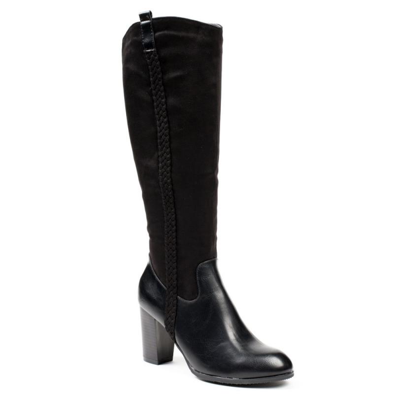 0607 ID Ψηλοτάκουνες μπότες - Μαύρες
