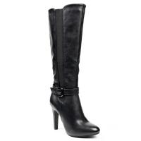 0609 ID Ψηλοτάκουνες μπότες με αγκράφα - Μαύρες