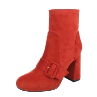 0645 LD Women's Classic Ankle Boots - Red