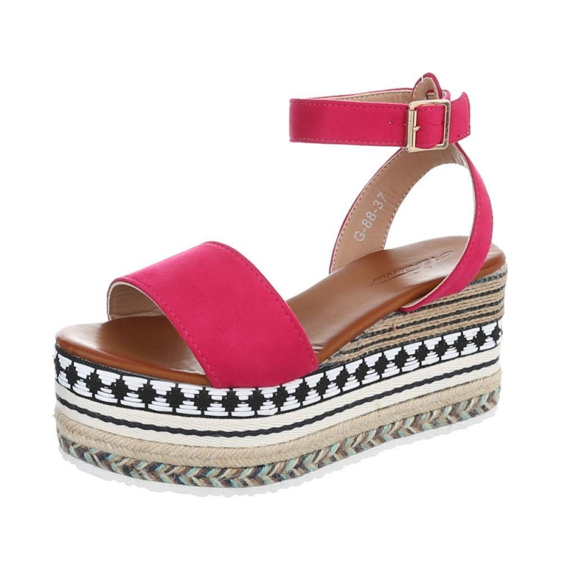 0710 LD Ladies wedges - fushia