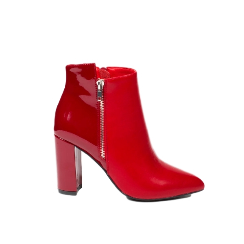 0776 ID Ankle boots - Red