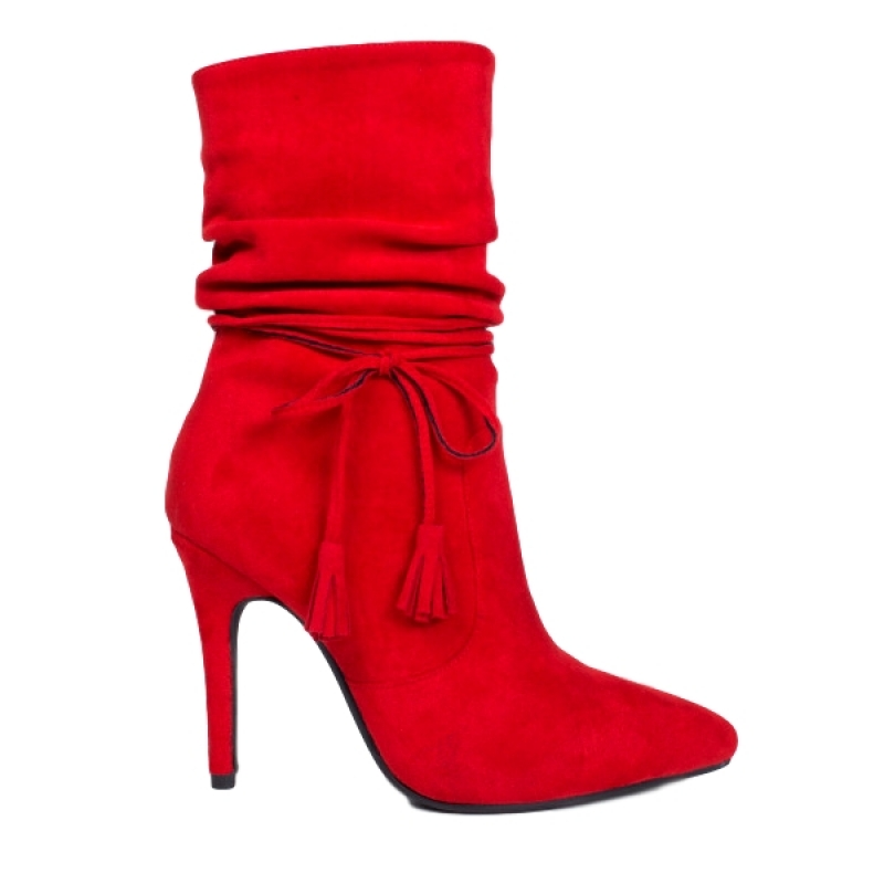0778 ID Women's high ankle boots - Red