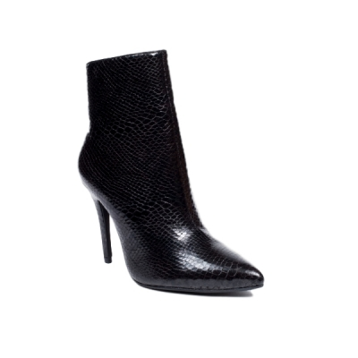 0786 ID Ankle boots snake look - Black