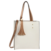 1586 AG Fashion Tote Bag With Tassel AG00594 - Beige/Nude