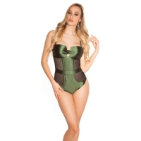 41816 FS Sexy swimsuit with mesh - Khaki