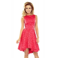 70130 NU Exclusive dress with longer back - Pink/coral