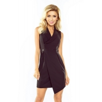 70133 NU Dress with neckline - black