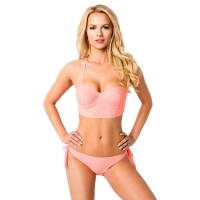 8603 AX Stylish bikini with removable straps -Lachs