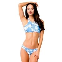 8609 AX Bikini with refined cut top-Blue