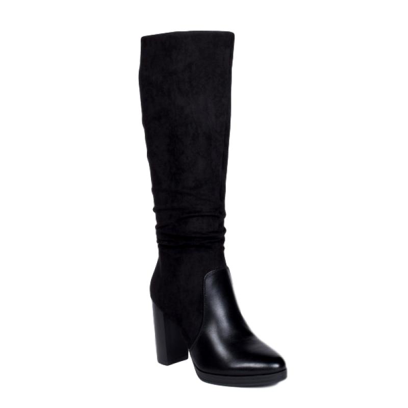 Γυναικείες μπότες με τετράγωνο τακούνι