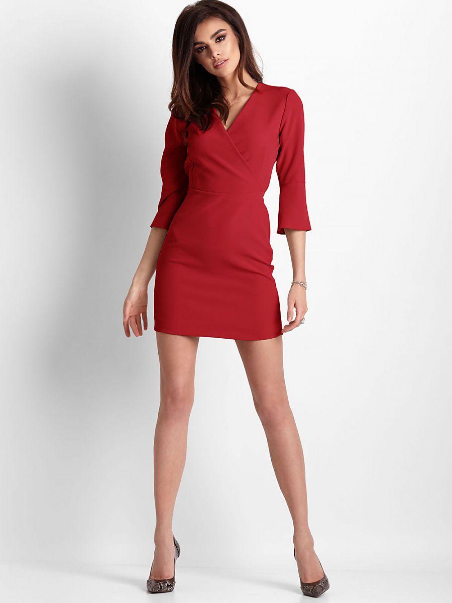 Καθημερινό Φόρεμα 130783 IVON-Κοκκινο