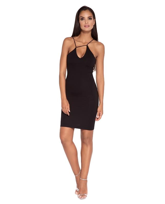 edc92e17ac8e Tsiamita 60052 DR Μίνι ελαστικό φόρεμα - Μαύρο-Μαύρο