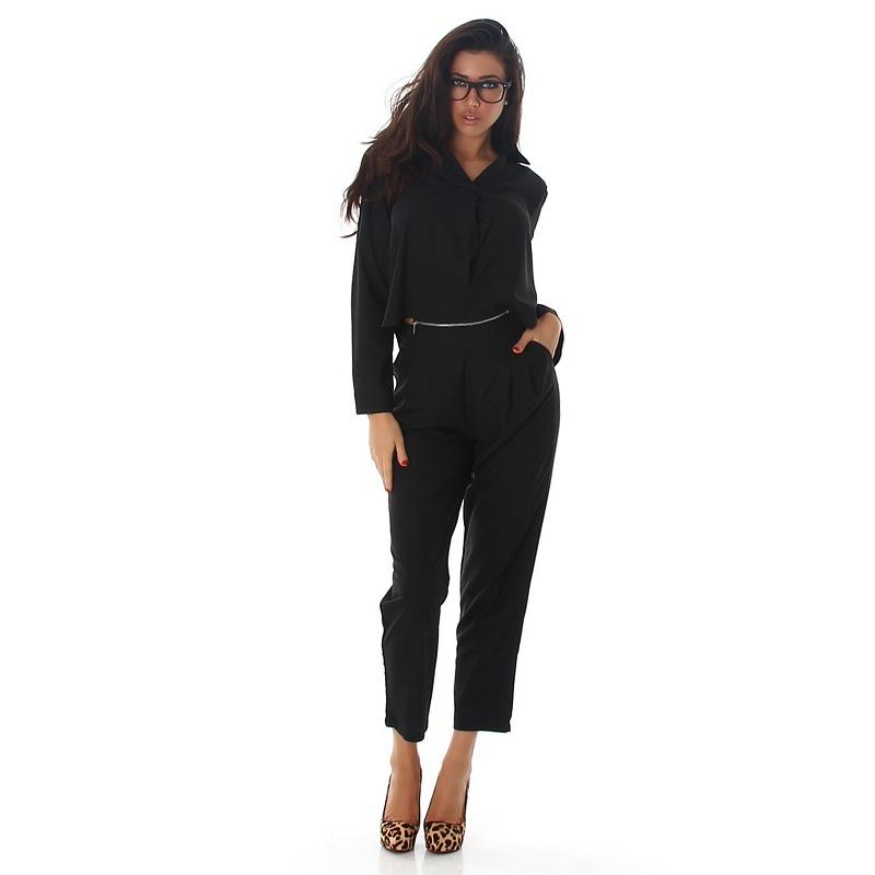61150 LX Ολόσωμη φόρμα με φερμουάρ - Μαύρο-Μαύρο