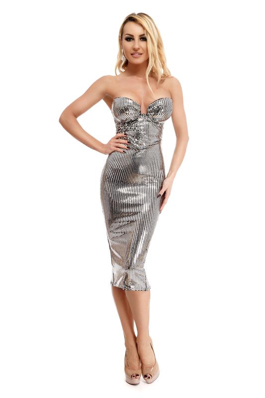 Γυναικεία Βραδυνά Φορέματα χρώματος ΑΣΗΜΙ  6ca702f47c5